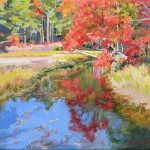 Autumn Reflections at Little River (oil. framed) 9x12 $300