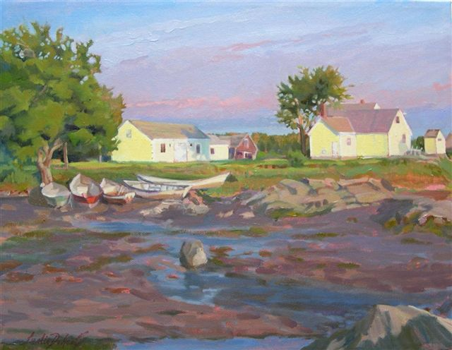 Low Tide St. George, ME (oil, framed) 11x14 _$500