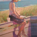 Lunch Break Plum Island (oil) 14x18 $300