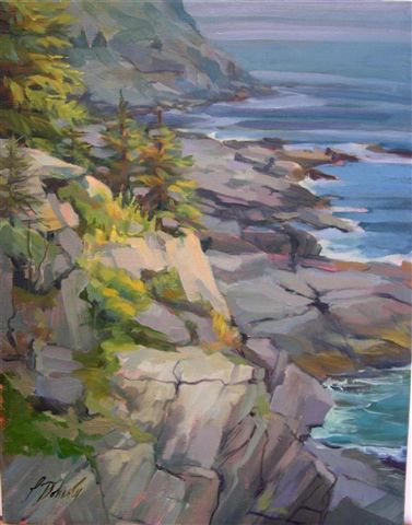 Monhegan Coast (oil) 11x14 $400