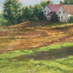 Morning at Wagon Wheel Farm (pastel, framed) 11x15 $400