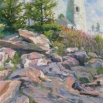 Pemaquid Point LIght (pastel, framed) 11.75x18