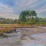 Sentinels in Autumn, Parson's Beach (oil, framed) $700