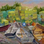 Skiffs and Traps, Monhegan Is. (oil, framed) 8x10  $250